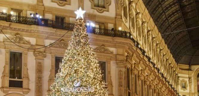 Swarovski albero di Natale 2018 Milano Galleria Vittorio Emanuele