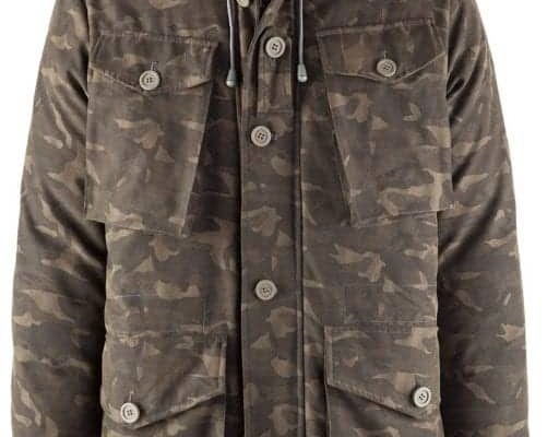 Bomboogie Inspired Short Parka Nylon/Poliestere, stampa camouflage