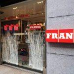Franke negozio principale di Milano allestimento Natale temporany shop prodotti Bio Nonno Andrea