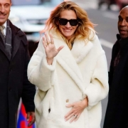 Julia Roberts indossa Teddy bear Icon Coat di Max Mara Getty Images