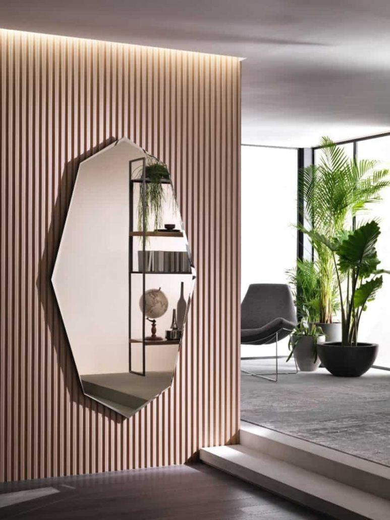 I nuovi specchi di Riflessi. Lo specchio a parete effetto bronzato