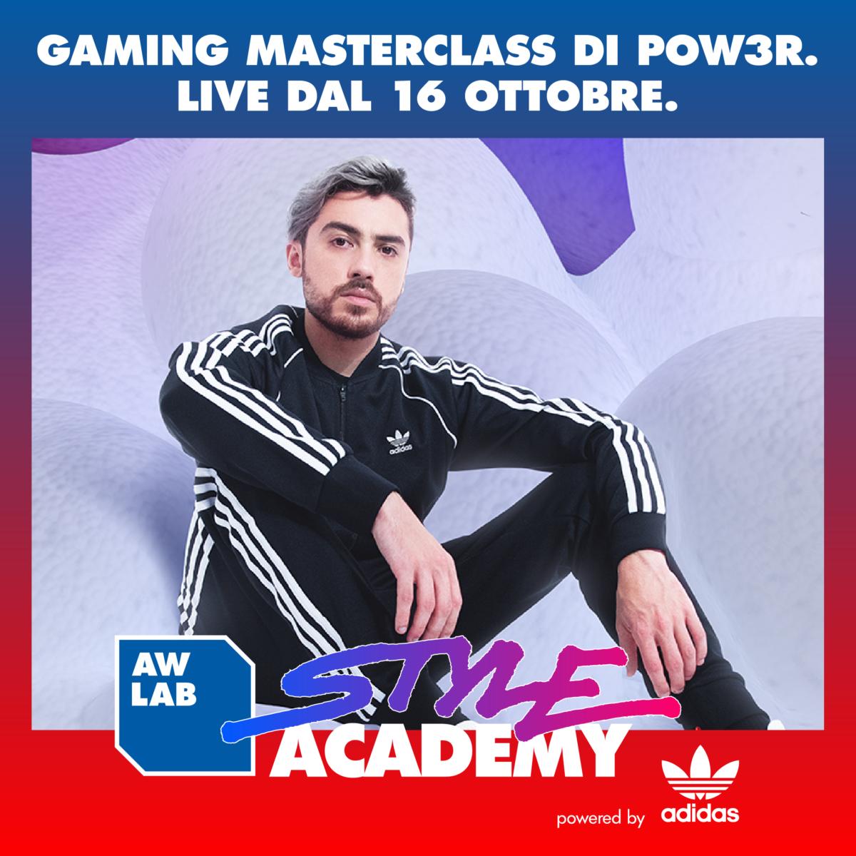 Aw Lab e adidas: 4 Masterclass per giovani talenti: si parte con il Gaming, coach aka Pow3r