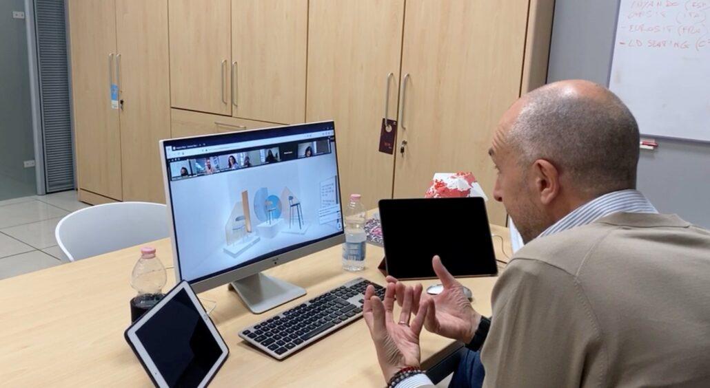 Infiniti virtual tour 02 presentazione virtuale collezione nuove sedie e arredi AI 2020 21