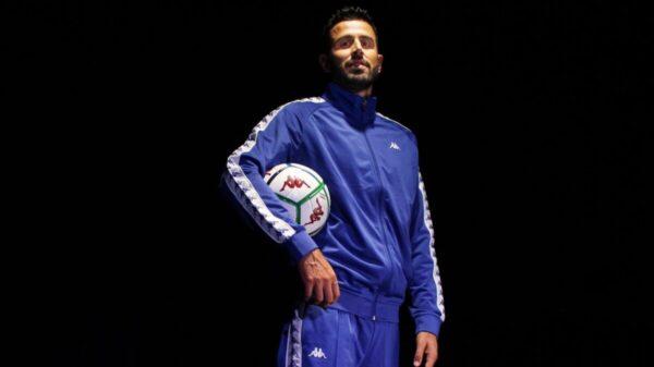 il_calciatore_campione_del_mondo_Fabio_Grosso_per Kappa (