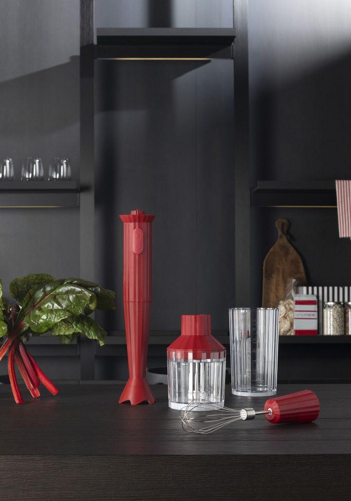ALESSI_ PLISSE'_ HAND BLENDER_design MICHELE DE LUCCHI_ RED
