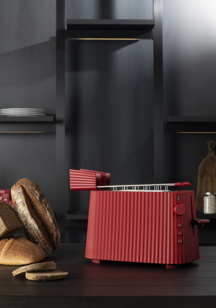 ALESSI_ PLISSE'_ TOASTER_design MICHELE DE LUCCHI_ RED_