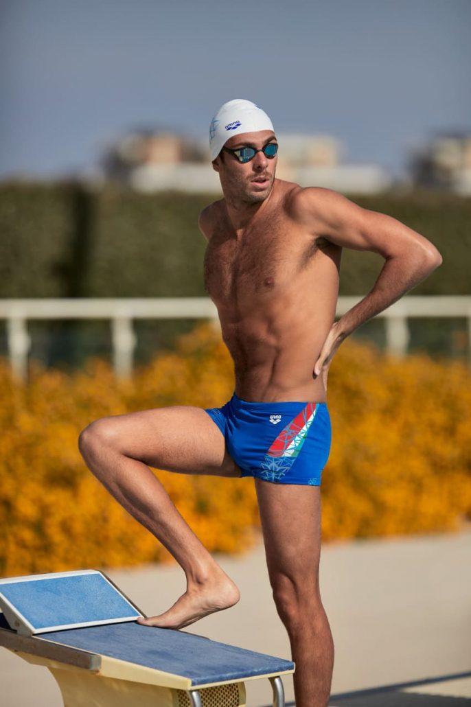 Gregorio Paltrinieri - campione olimpico in carica dei 1500m stile libero – indossa Bishamon