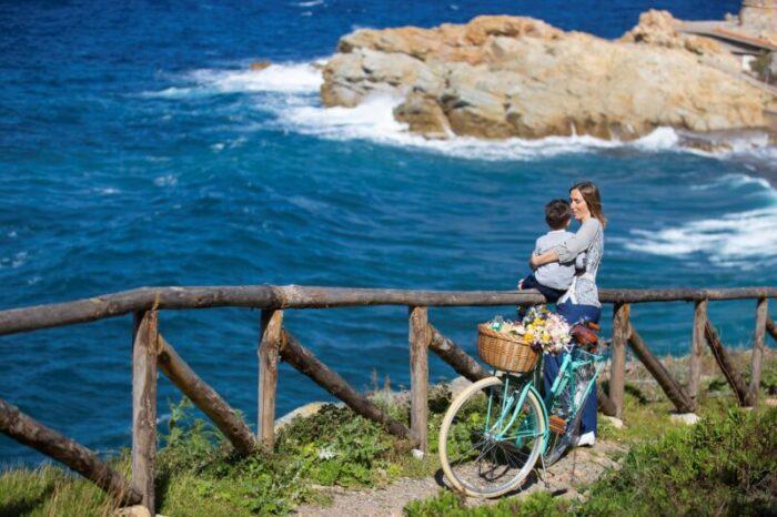 Bici da passeggio_acqua dell'Elba idea regalo festa della Mamma