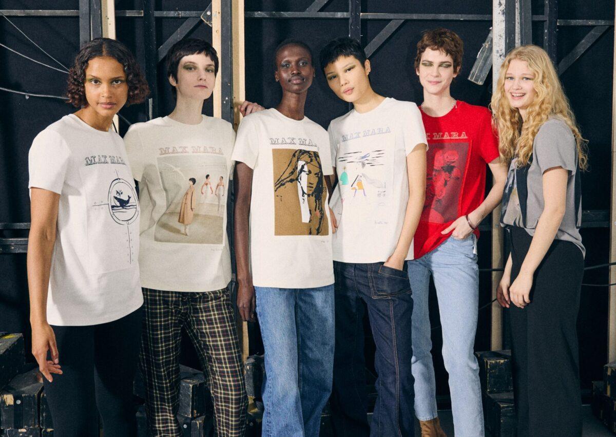 T-shirt Max Mara per 70 anniversario AI 2021 2022