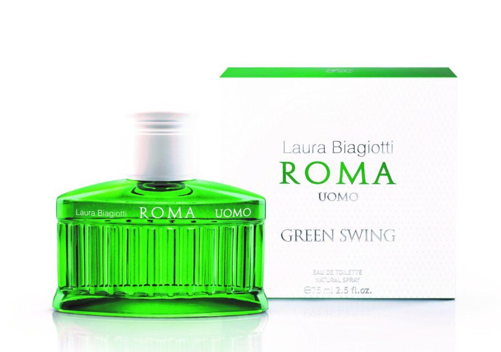 Il nuovo profumo di Laura Biagiotti, Roma Uomo Green Swing, omaggio al golf e all'active lifestyle