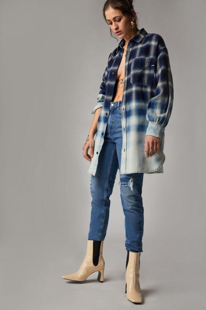 Camicia Donna GAS in flanella check quadri