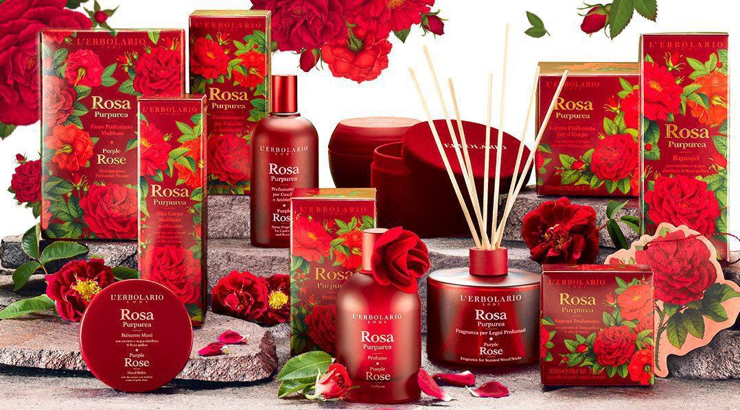 L'Erbolario nuovi prodotti Rosa Purpurea
